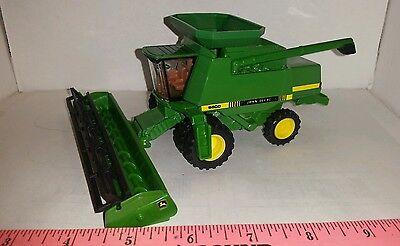 1/64 ERTL custom John deere 9600 combine with hopper ex duals clear cab farm toy