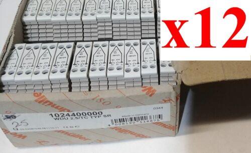 (LOT of 12) NEW Weidmuller 1024400000 WDU 2.5/TC Type SR Terminal Block