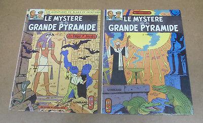 JACOBS - BLAKE ET MORTIMER - MYSTERE DE LA GRAND PYRAMIDE 1 & 2 - RÉÉ 1972