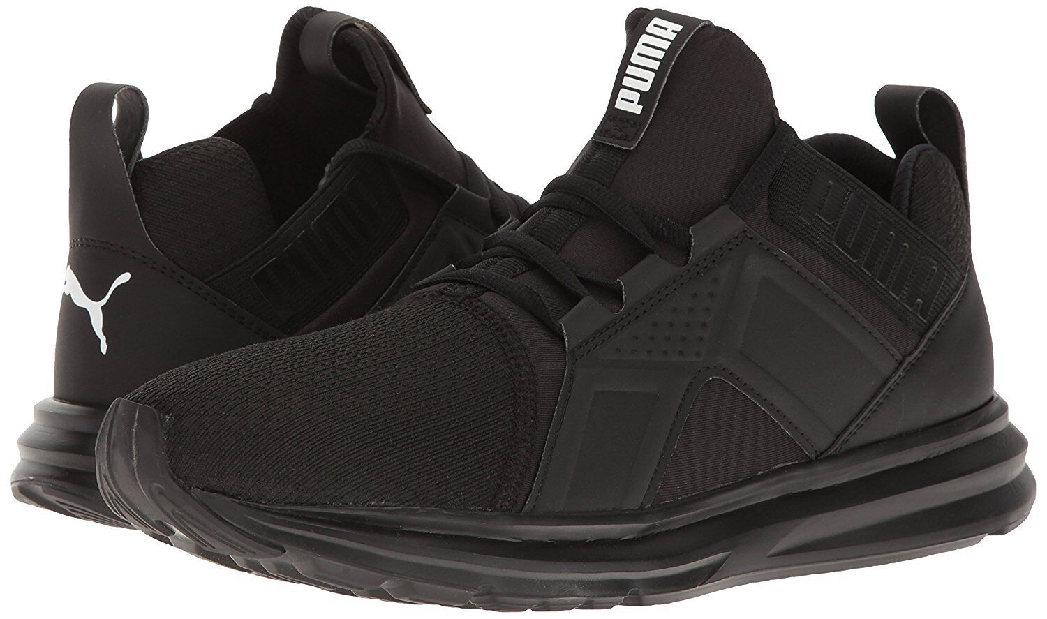 Men's Shoes PUMA Enzo Run Train Knit Sneakers 189498-03 Black *New*