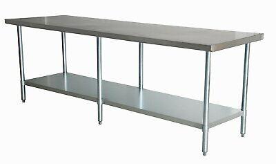 36 X 96 Stainless Steel Commercial Work Table Gal Legs Undershelf