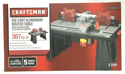 Craftsman Die Cast Aluminum Router Table 367 SQ IN 937596