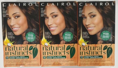 Clairol Natural Instincts Ammonia-Free Hair Color Kit, 3.5 B