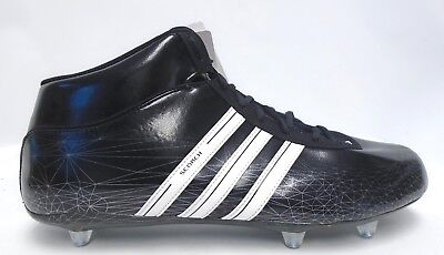 big sale 7f464 ef290 Adidas Scorch 7 D Mid Black and White Football Cleats - Size 12.5