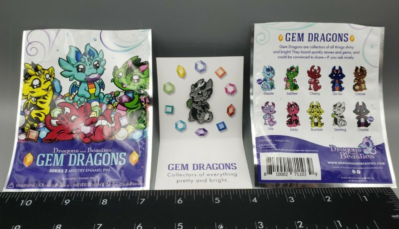 Dragons And Beasties Gem Dragon Series 2 Mystery Enamel Pin Sterling