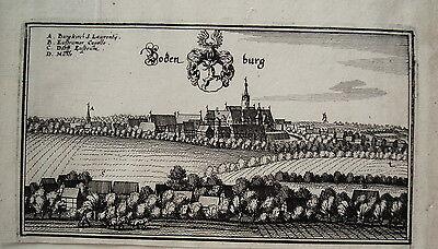 Bodenburg  Bad Salzdetfurt  Hildesheim  Merian Kupferstich der Erstausgabe 1654