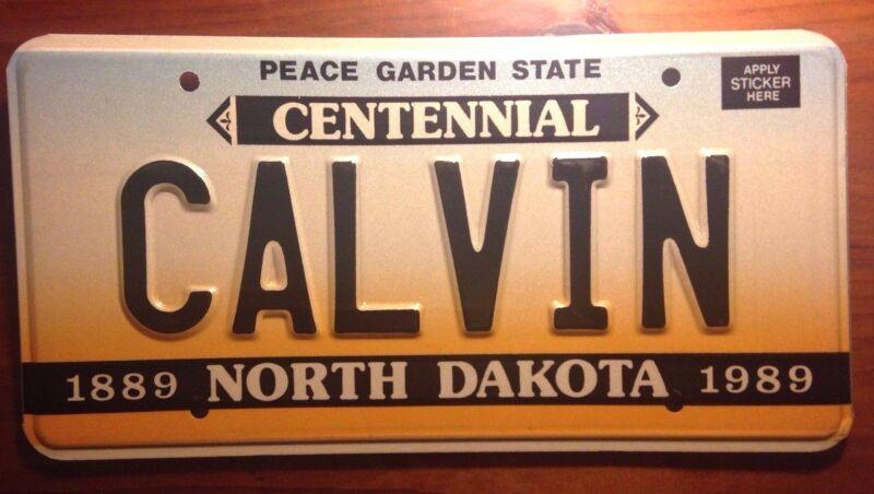 1989 NORTH DAKOTA VANITY PERSONALIZED LICENSE PLATE CALVIN KLEIN UNDERWEAR