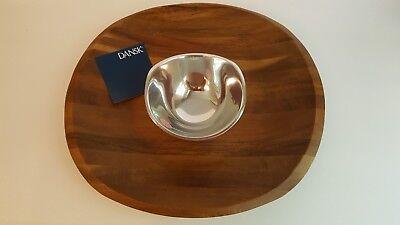 Dansk Metal (Dansk Wood Classics Wood / Metal Chip and Dip Never Used - In Box Retail $100)