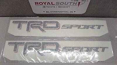 Toyota Tacoma TRD Sport Decal Emblem Sticker Kit Dark Script Genuine OE OEM