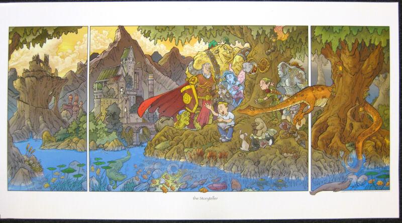 Prints of Travis Hanson's illustration The Storyteller
