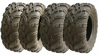 Set of 4 Quad Tyres 25X10-12 & 25X8-12 6ply ATV tyre E marked road legal