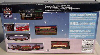 2003 LEMAX CAROLE TOWNE EXPRESS TRAIN SET COMPLETE Christmas Tree