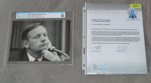Neil Armstrong Family Collection Owned Photo Signed COA CAG Apollo 11 Moon