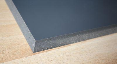 1 Hart PVC Kunststoffplatte dunkelgrau 120x245x20mm