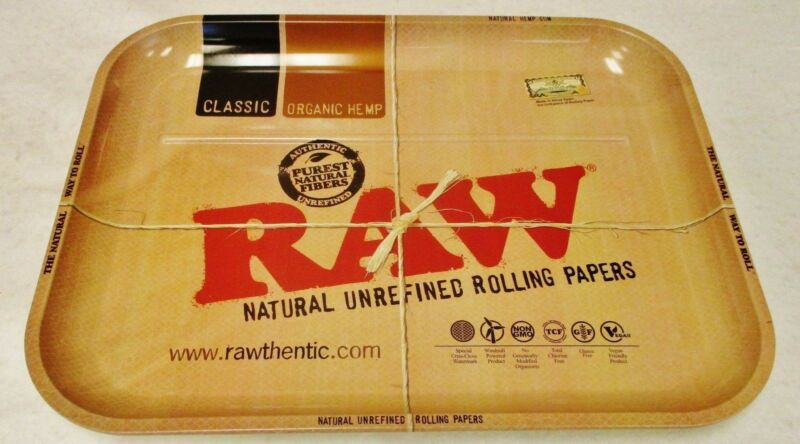 "New RAW Rolling Tray XXL Huge Gigantic 20""x15"" Metal Tray Free Shipping"