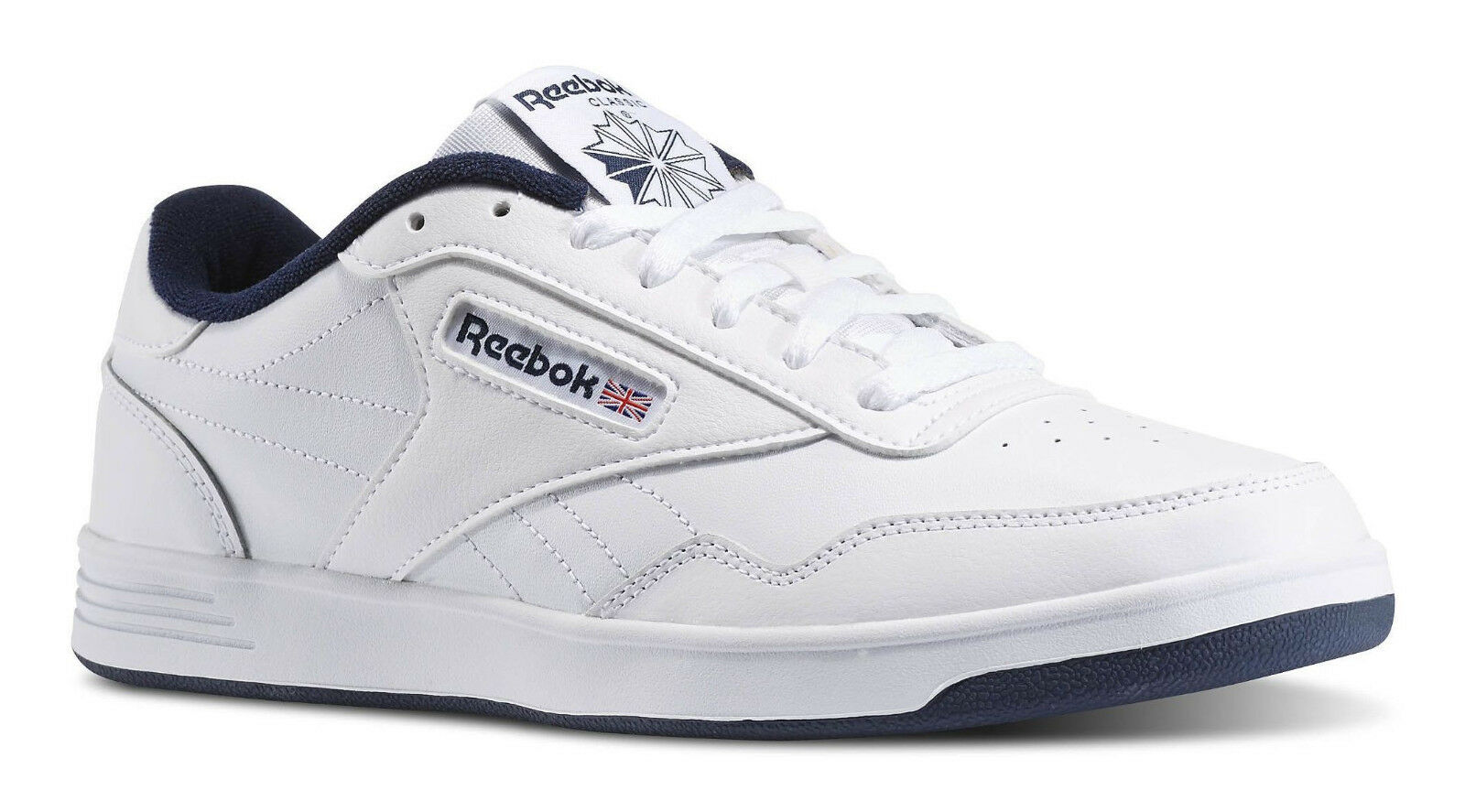 Reebok Classic Club Memt Lifestyle White Navy Mens Sneakers