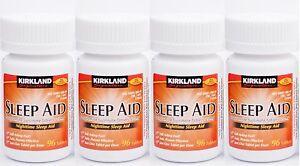 Kirkland-Sleep-Aid-Doxylamine-succinate-25-mg-384-Tablets-Brand-New-Sealed