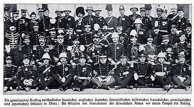 Europäische Offiziere in Peking (Gruppenbild) Historische Aufnahme von 1910