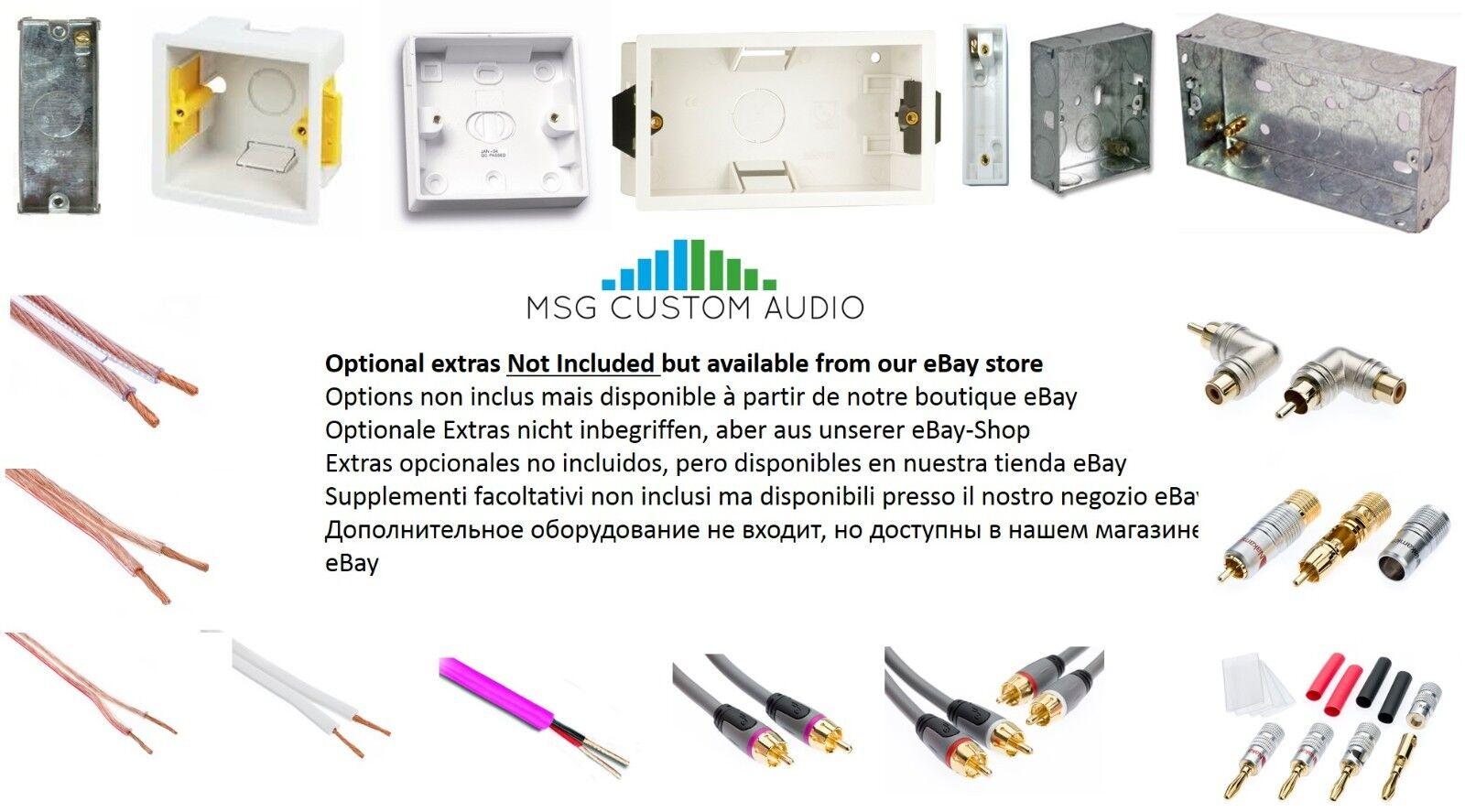 4 POST WHITE Speaker Audio Wall Face Plate Solder-less Bi Wire / 2 ...