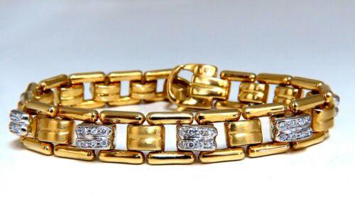 .80ct Natural Masculine Mod Durable Hinged Bracelet 14 Karat