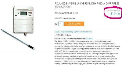 Veris Dry Media Digital Lcd Differential Pressure Transducer Pxulx05s B2b3