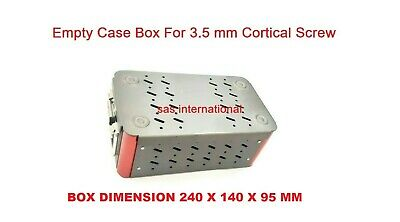 Orthopedic Empty Case Box For 3.5 Mm Cortical Screw Surgical Instruments