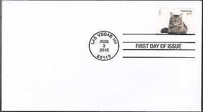 US 5122 PETS CATS FDC 2016