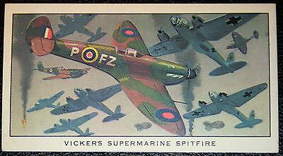 Vickers Supermarine Spitfire  World War 2  Fighter  Colour Card ## VGC