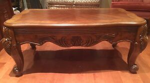 New, Solid wood  beautifully carved coffee table s
