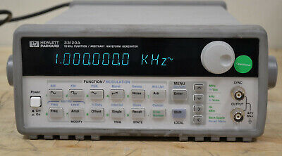Hp Agilent 33120a 100uhz To 15mhz Functionarbitrary Waveform Generator 4 Avail