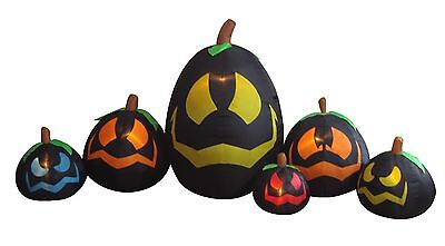 USED Halloween Inflatable Black Pumpkins Garden Party Decoration Balloon Blowup - Halloween Pumpkins Decorating