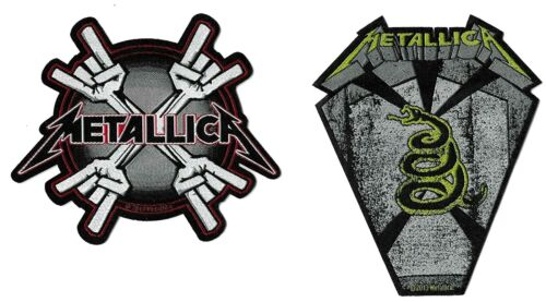Metallica Metal Horns + Pit Boss Coffin Patch Lot [UK Import] Die-Cut Patches