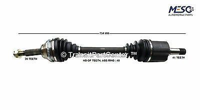 DRIVESHAFT AXLE FORD TRANSIT MK7 2007-2014 2.2 6 SPEED LH LEFT HAND NEAR SIDE