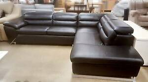 Brand New Leather Modular Lounge, Black Colour, Sale $1899 Blacktown Blacktown Area Preview