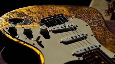 American Fender Stratocaster Custom Gold Leaf  Relic (Body Only) Guitarwacky