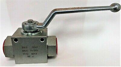 Hydraulic 34 Shut Off Ball Valve 2 Way Steel High Pressure De2 Dn20 5800 Psi
