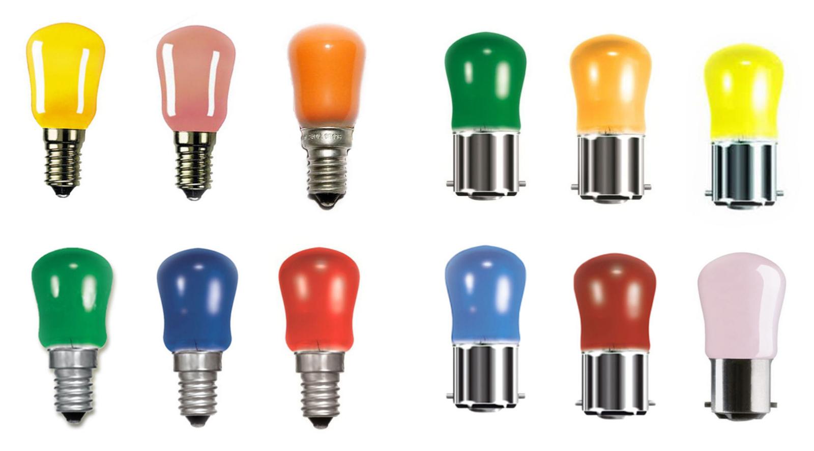 5 x Coloured Pink Pygmy Light Bulbs Sign Lamp Small Bayonet B15 15 Watt