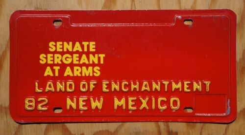 1982 New Mexico SENATE SERGEANT AT ARMS License Plate