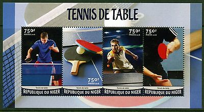 NIGER 2016 TABLE TENNIS SHEET MINT NEVER HINGED