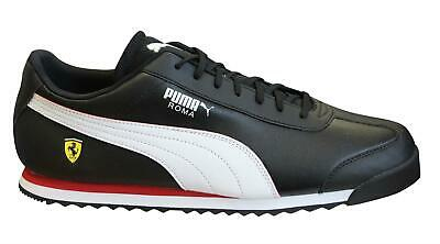 Puma x Scuderia Ferrari Roma Black Mens Trainers Lace Up Shoes 306083 10