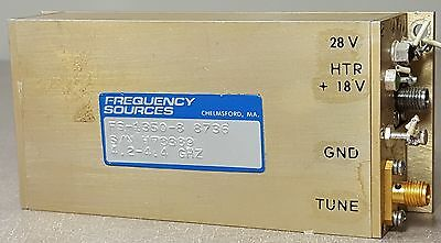 FS-3350-8 Frequency Sources Inc. Microwave Ampl 4.2-4.4GHZ