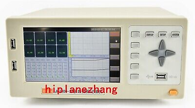 24ch Thermocouple Pt100 Va Temperature Data Logger Record 7lcd Usb Rs232 Lan