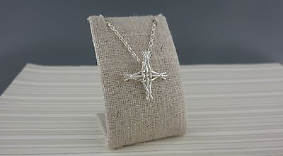 Sterling Silver Irish St  Brigids Bridgets Cross Pendant Made In Ireland