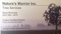 Tree care services- Nature's Warrior Inc.
