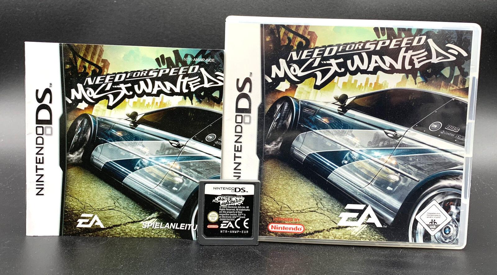 Spiel: NEED FOR SPEED MOST WANTED für Nintendo DS + Lite + Dsi + XL + 3DS 2DS