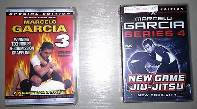 NEW! Marcelo Garcia Brazilian Jiu-Jitsu BJJ DVD Sets - Series 3 & 4 - 13 Volumes