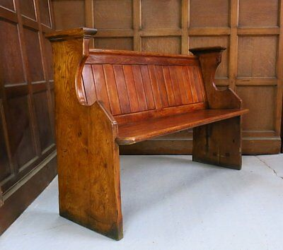 Edwardian Arts and Crafts Oak Church Chapel Pew | We deliver