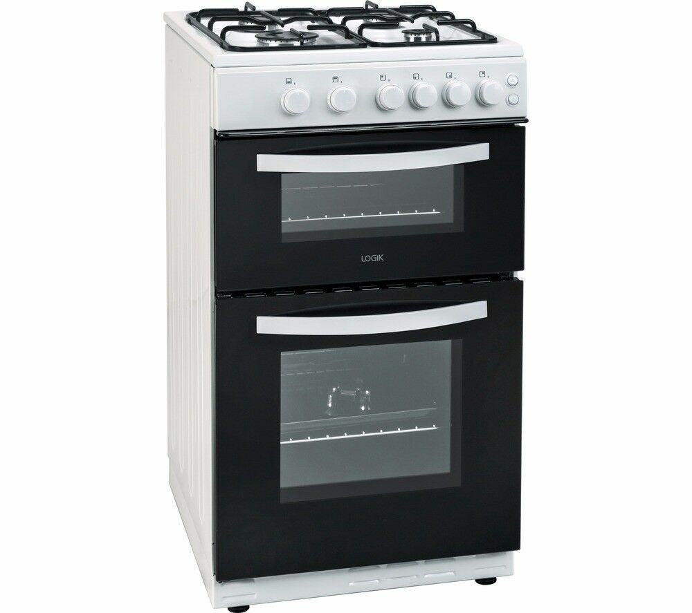 Ex display LOGIK 50cm Gas Cooker - White - LFTG50W16