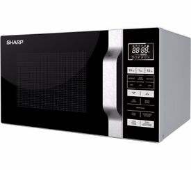 New Microwave with Grill 23L - Silver & Black - SHARP R760SLM