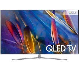"Samsung QE49Q7F QLED HDR Premium 1500 4K Ultra HD Smart TV, 49"" with Freeview HD/Freesat HD"